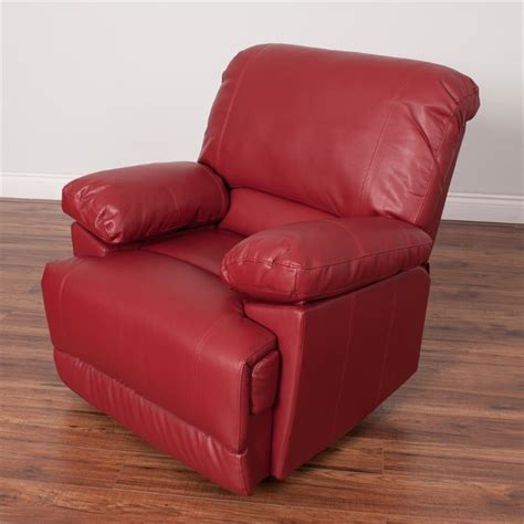red reclining chair leather reclining chair in red lzy 351 r