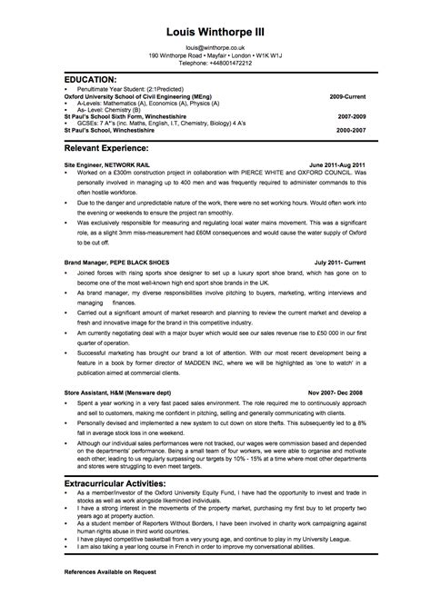 Environmental Lawyer Sle Resume by 1 Page Cv Investment Banking Cover Letter For Resume Best Resume Templates