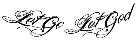 let go and let god tattoo let go let god