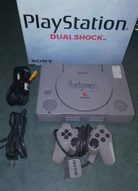ps1 console sony playstation one ps1 console system with non original box