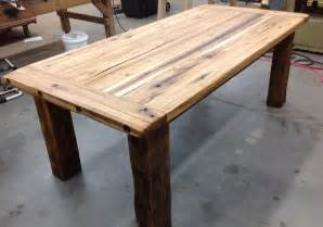 Barn wood hickory farmhouse table reclaimed wood made in michigan jpg