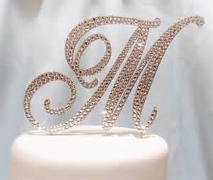 Monogrammed Rings Perfect Monogrammed Wedding Cake Toppers With Monogram Wedding Cake Toppers Monogram Wedding