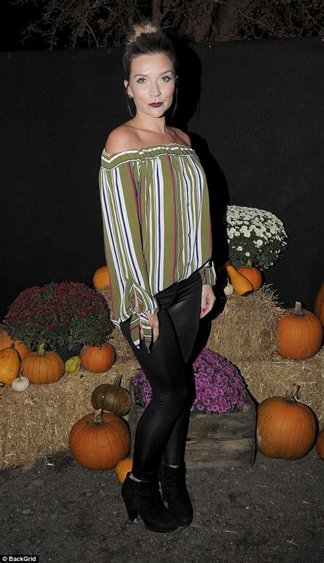 Sr011 Daily Top Brown gbbo s candice brown looks chic in a stripy bardot top daily mail