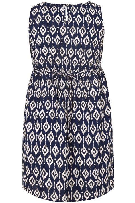 Dress Flower Bodycon Tali Dada Best Seller navy white print pocket dress with elasticated waist
