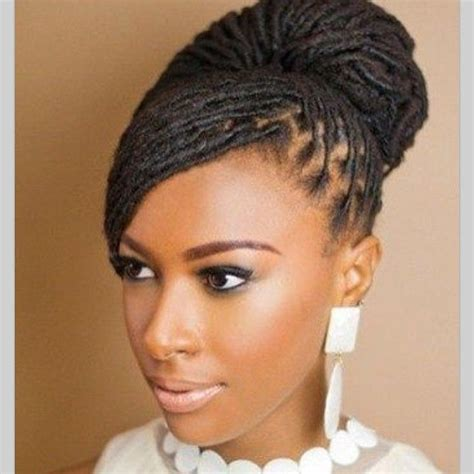 pinterest locs hairstyles beautiful loc bun hair style for brides bridal