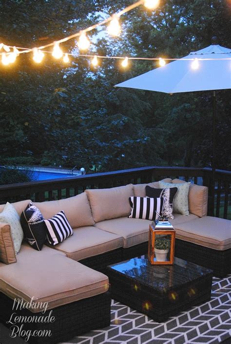 what to use to hang lights outside how to hang outdoor string lights the deck diaries part 3 lemonade