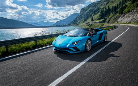 lamborghini aventador s roadster 2018 wallpapers hd wallpapers id 21717