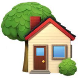 home emoji house with garden emoji u 1f3e1