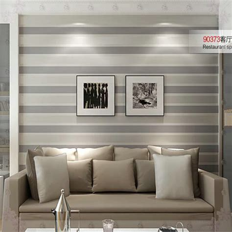 striped rooms 3d wall paper stripe wallpaper striped flocking bedroom or