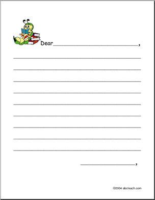 Friendly Letter Form Elementary Writing Paper I Abcteach Com Abcteach Elementary Letter Template