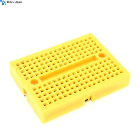 Syb 170 Small Breadboard Protoboard Projectboard syb 170 colored mini breadboard yellow