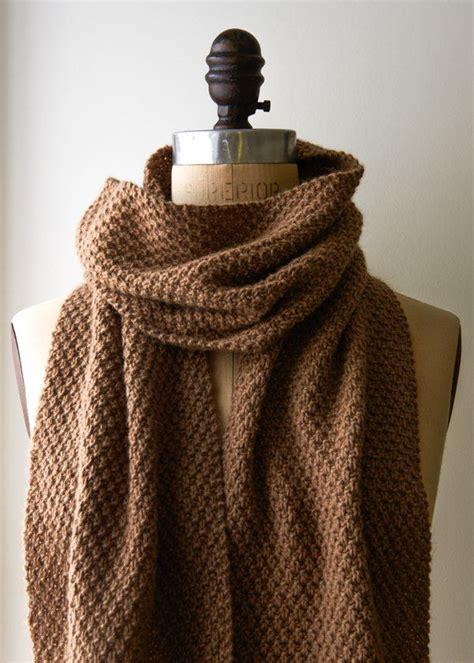 knitting moss stitch scarf best 25 knit scarves ideas on knitting