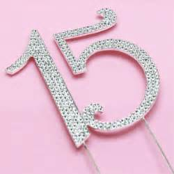 White Party Decorations Number 15 Rhinestone Cake Topper Quincea 241 Era Party