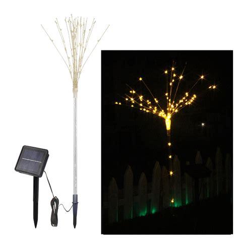 2pcs solar powered diy led firework starburst landscape