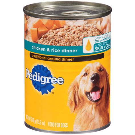 can dogs rice upc 023100019079 pedigree ground food chicken and rice 1 can 13 2 oz