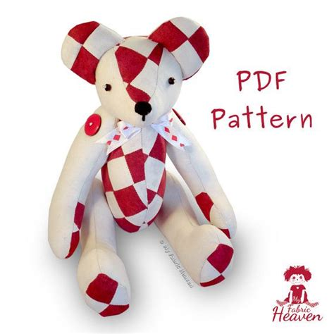 Free Patchwork Teddy Pattern - 1000 images about handmade products on fabric
