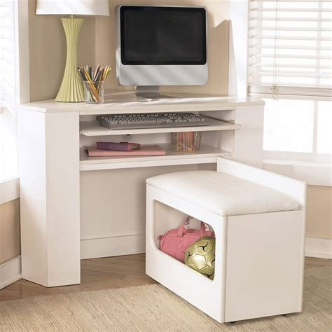 Corner Desk And Stool by Lulu Corner Desk Media Unit W Stool Signature Design