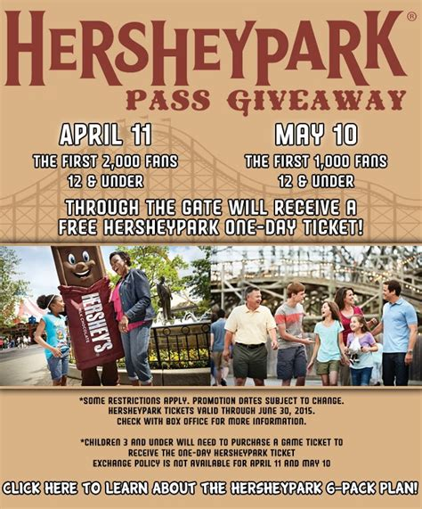 Hershey Giveaway - harrisburg senators hersheypark ticket giveaway on april 11 and may 10 ship saves
