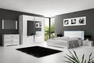 chambre 224 coucher blanc laqu 233 avec 233 clairage led comforium