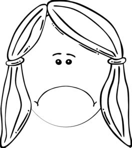 coloring page of sad girl sad girl clip art at clker com vector clip art online
