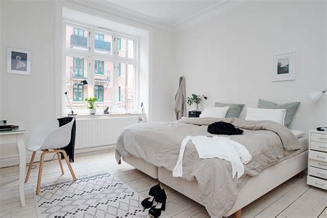 bed style bedroom design in scandinavian style