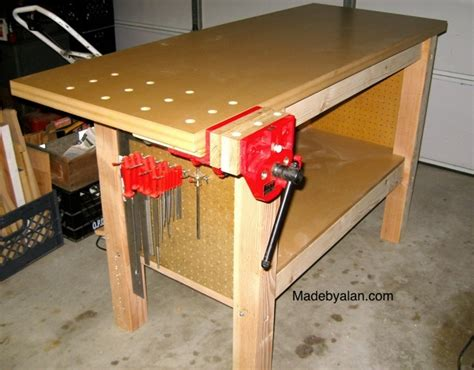 simple work bench simple strong woodworking workbench made by alan