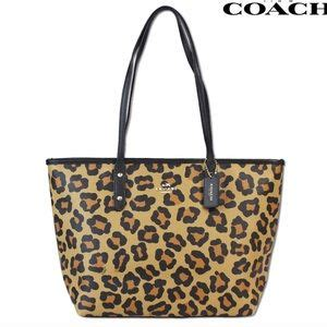 Coach Ocelot Prairie City Zip Tote 54 coach handbags coach hologram silver tote from