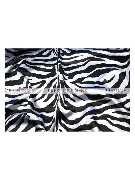 Zebra Print Table L Zebra Print Charmeuse Table Linen White Prestige Linens