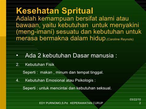 Kebutuhan Dasar Manusia Untuk Mahasiswa Keperawatan materi kuliah sosiologi kesehatan spiritual