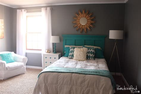 Light Turquoise Paint For Bedroom Extraordinary Turquoise White And Gray Bedroom Decoration Using Light Grey Bedroom Wall Paint