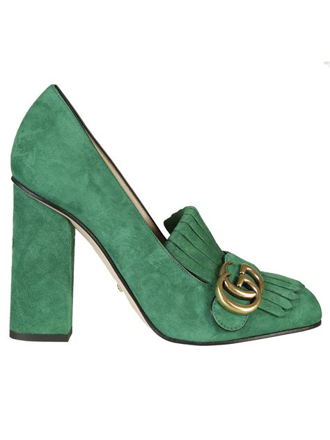 Gucci 618 Basic Heels gucci gucci suede pumps green s high heeled shoes italist