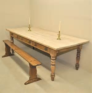 large kitchen table large pine kitchen table antiques atlas