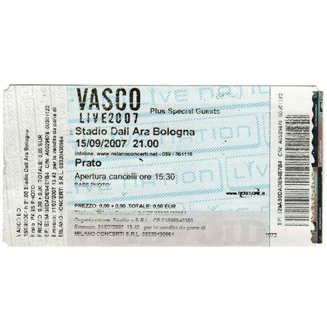 vasco ticket bologna stadio dall ara 15 09 2007 italian 2007 original