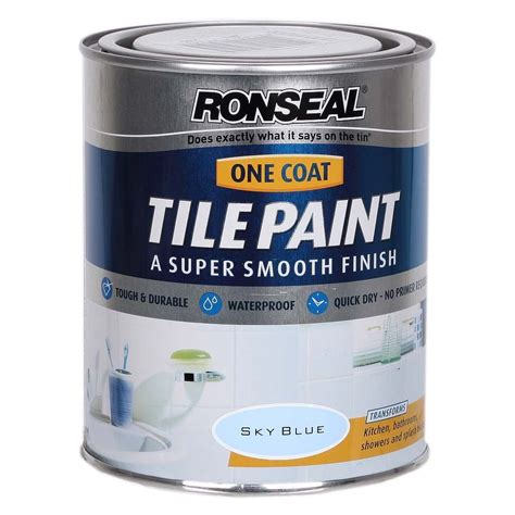 waterproof paint for bathrooms ronseal one coat waterproof bathroom tile paint sky blue
