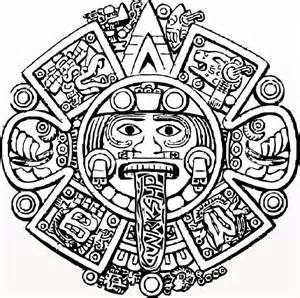 aztec coloring pages search results for aztec calendar color page calendar 2015