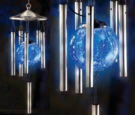 solar lighted wind chimes solar light show wind chime envirogadget