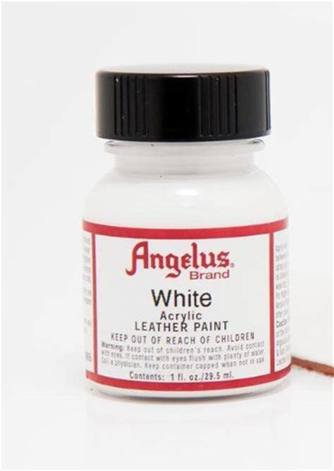 angelus paint for cheap angelus 710005 angelus leather paint 1 oz white shop