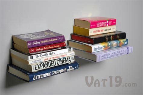 floating books bookshelf the wall