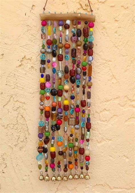 beaded wind chimes beaded wind chime and suncatcher on mesquite with bells