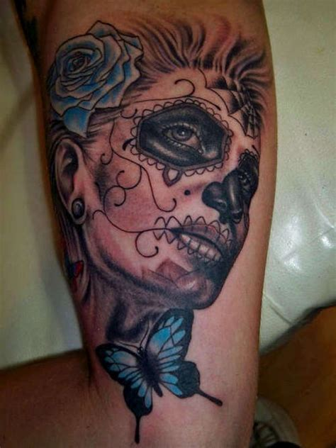 sugar skull tattoos for females 51 ultimate sugar skull tattoos amazing ideas