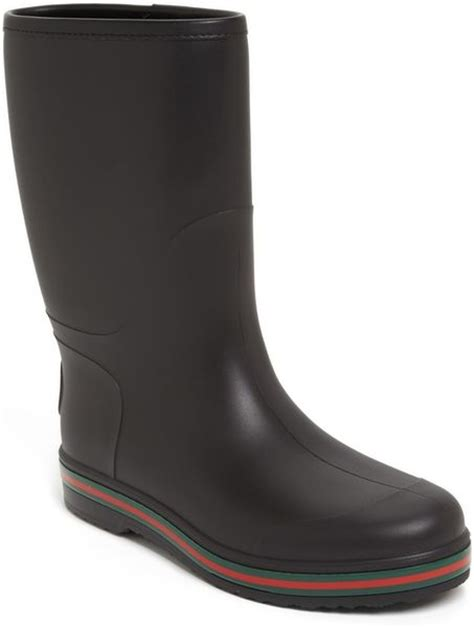 black gucci boots for gucci brest boot in black for lyst
