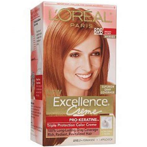 diy strawberry blonde hair color chart l oreal excellence 8rb reddish blonde blondes and