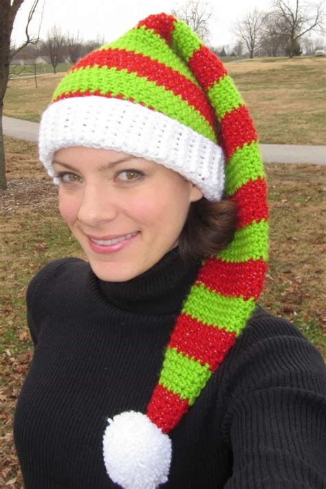 free pattern elf hat crochet christmas hats that you ll love to make the whoot