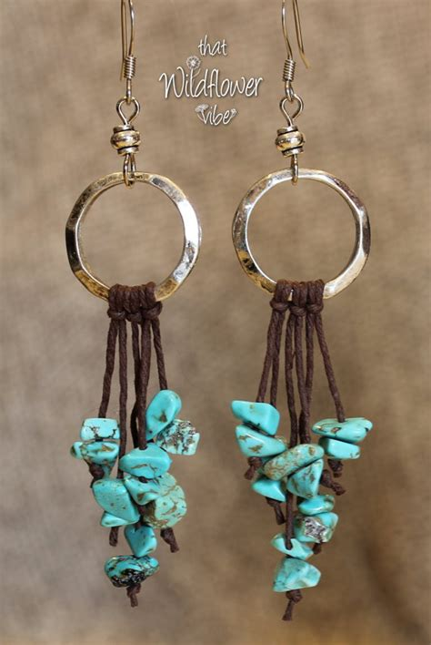 String Earrings - turquoise string earrings turquoise earrings by