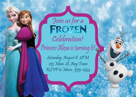 22 best frozen birthday party invites elsa olaf images