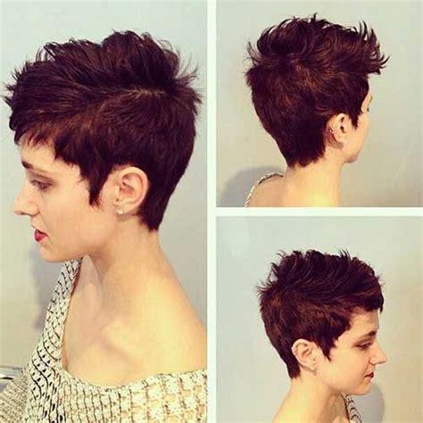 pixie hair cut with a caramel colour messy pixie cut hair colors short hair pinterest