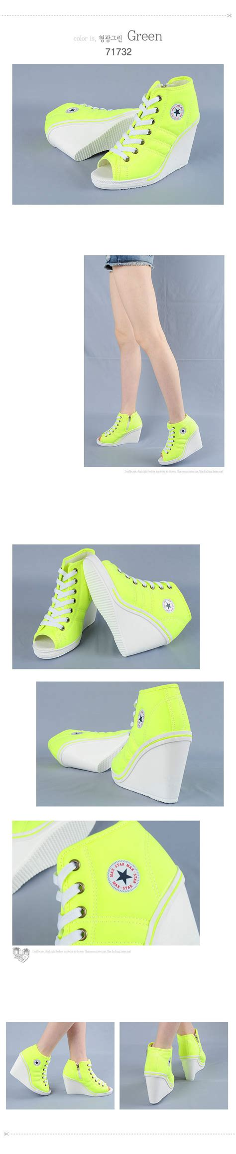 Wedges Fashion Korea 777 3 Warna 777 toe open wedges trainers heels sneakers platform high top ankles shoes findh ebay