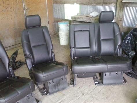 suburban 2nd row bench seat 2nd row leather bench seats suburban escalade esv yukon xl