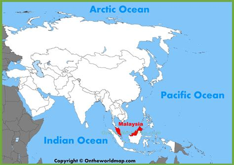 where is malaysia on a world map malaysia location on the asia map