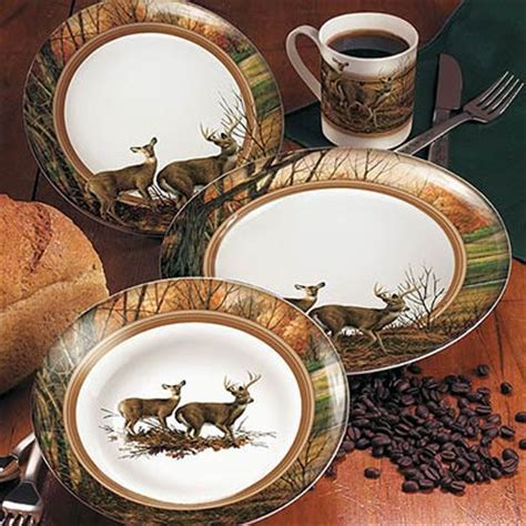 Cabin Dinnerware Sets by Dishes Shop Everything Log Homes